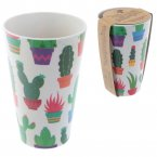 Bambootique Eco Friendly Biodegradable Cactus Design Cup