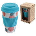 Bambootique Eco Friendly Biodegradable Pineapple Design Travel Cup