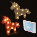 Decorative LED Light Wall Light - Standing Unicorn (Assorted Colours)