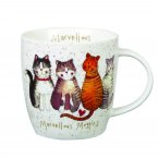 Churchill Alex Clark Squash Mug Cats Marvellous Moggies 400ml