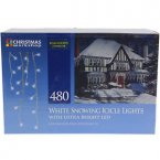 The Christmas Workshop Snowing Icicle Lights 480 LED - White