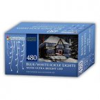 The Christmas Workshop Snowing Icicle Lights 480 LED - Blue/White
