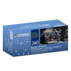 The Christmas Workshop Snowing Icicle Lights 240 LED - Blue/White