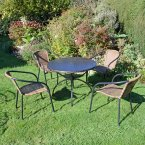 Summer Terrace Fleuretta Patio 90cm Set - San Remo