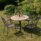 Byron Manor Langley Dining Table with 4 Verona Chairs
