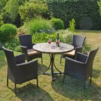 Byron Manor Monterey Dining Table with 4 Stockholm Brown Chairs