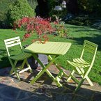 Trabella Brescia Folding Table with 2 Brescia Chairs Set Lime