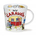 Dunoon Cairngorm Shape Fine Bone China Mug - My Caravan
