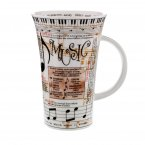 Dunoon Glencoe Shape Fine Bone China Mug - Music