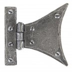 "Pewter 3 1/4"" Half Butterfly Hinge (pair)"