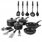Morphy Richards 5 Piece Pan Set Black