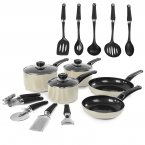 Morphy Richards 5 Piece Pan Set Cream