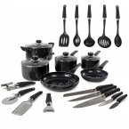 Morphy Richards 14 Piece Cooking Set Black