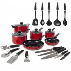 Morphy Richards 6 Piece Pan Set Red