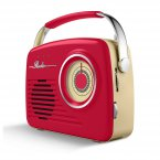 Akai AM/FM Retro Radio Red