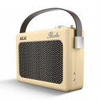 Akai DAB Retro Radio Cream with Faux Leather