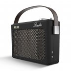Akai DAB Retro Radio Black with Faux Leather