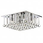 Dar Abacus 5 Light 500mm Square Flush Ceiling Light