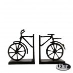 Elur Iron Book Ends - Bicycle