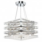 Dar Cube 5 Light Pendant in Polished Chrome