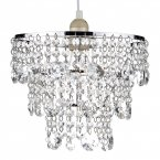Dar Cybil Crystal Non Elec in Polished Chrome