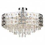 Dar Duchess 6 Light Flush Round Polished Chrome