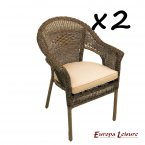 Europa Stone Bavaria Chair PACK of 2