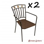 Europa Stone Malaga Chair PACK of 2