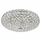 Dar Frost 5 Light Flush Ceiling Light Polished Chrome