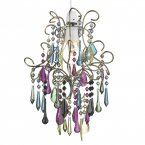 Dar Jodi Non Electric Pendant Complete with Multi Coloured Droppers
