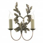 David Hunt Leaf Double Wall Bracket Bronze