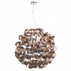Dar Rawley 12 Light ribbon Pendant Satin Copper