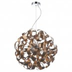 Dar Rawley 9 Light Ribbon Pendant Satin Copper