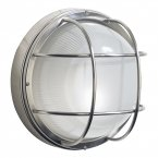 Dar Salcombe Large Round Steel Wall Light IP44