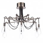 Dar Scroll 10 Light Semi Flush Ceiling Light Copper