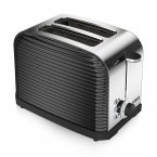 Tower 2 Slice Linear Toaster Black