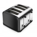 Tower 4 Slice Linear Toaster Black