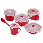 Tower Microwavable 5 Piece Set Red