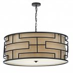 Dar Tumola 4 Light Pendant Bronze