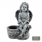Solstice Sculptures Cherub Planter