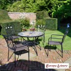 Europa Stone Alicante Patio Table with 4 Murcia Chair Set