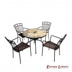 Europa Leisure Alicante Patio Table & 4 Murcia Chairs Set