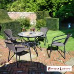 Europa Stone Alicante Patio Table with 4 San Luca Chair Set