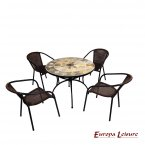 Europa Leisure Alicante Patio Table & 4 San Luca Chairs Set