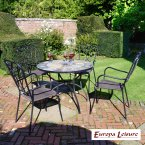Europa Stone Alicante Patio Table with 4 Verona Chair Set