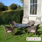 Europa Stone ALCIRA Patio Table with 4 Bavaria Chair Set