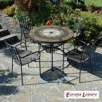 Europa Stone ALCIRA Patio Table with 4 Malaga Chair Set