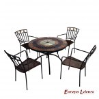 Europa Leisure Alcira Dining Table & 4 Malaga Chairs Set