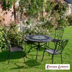 Europa Stone ALCIRA Patio Table with 4 Verona Chair Set