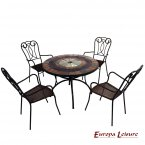 Europa Leisure Alcira Dining Table & 4 Verona Chairs Set